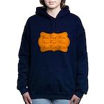 Orange and Black Women's Hooded Sweatshirt