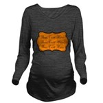 Orange and Black Long Sleeve Maternity T-Shirt