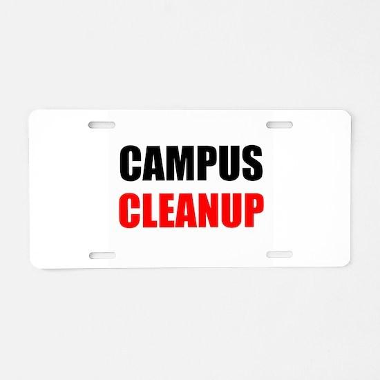 Campus Cleanup Aluminum License Plate