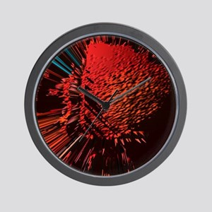 RED BLOB OF COURAGE Wall Clock