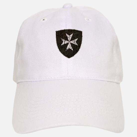 Knights Hospitaller Cross, Distressed Baseball Baseball Cap