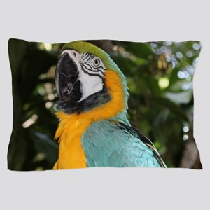 Yellow and Blue Macaw Pillow Case