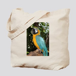 Yellow and Blue Macaw Tote Bag