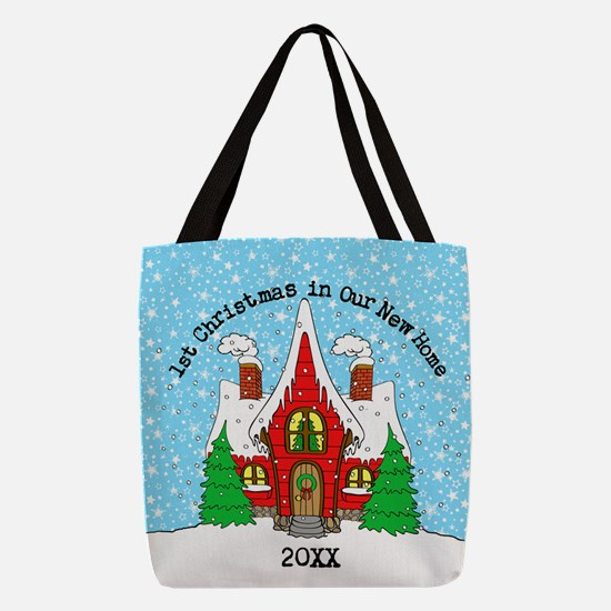 1st Xmas in our new home Polyester Tote Bag