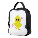 Easter Chick Hearts Neoprene Lunch Bag