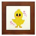 Easter Chick Hearts Framed Tile