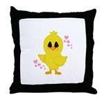 Easter Chick Hearts Throw Pillow