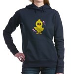 Easter Chick Hearts Women's Hooded Sweatshirt