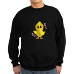 Easter Chick Hearts Sweatshirt