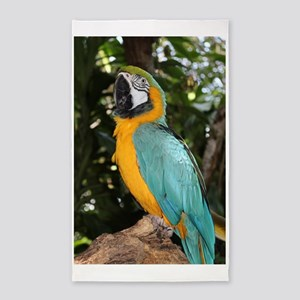 Yellow and Blue Macaw Area Rug