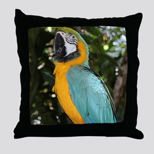 Yellow and Blue Macaw Throw Pillow