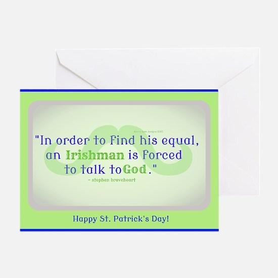 God's Irishman Card Greeting Cards