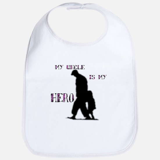 """my uncle is my hero"" Bib"