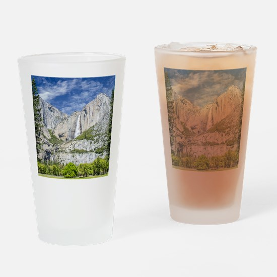 Waterfalls in the Spring Drinking Glass
