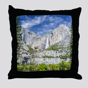 Waterfalls in the Spring Throw Pillow