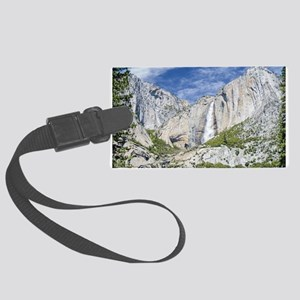 Waterfalls in the Spring Large Luggage Tag
