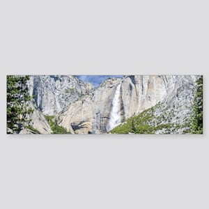 Waterfalls in the Spring Sticker (Bumper)