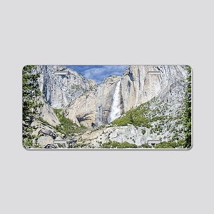 Waterfalls in the Spring Aluminum License Plate