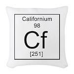 98. Californium Woven Throw Pillow