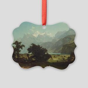 Bierstadt,Lake Lucerne Picture Ornament