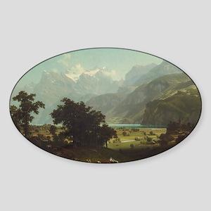 Bierstadt,Lake Lucerne Sticker (Oval)