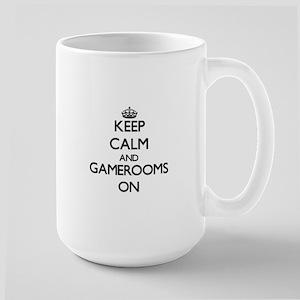 Keep Calm and Gamerooms ON Mugs