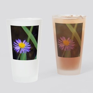 Fresh Purple Daisy Drinking Glass