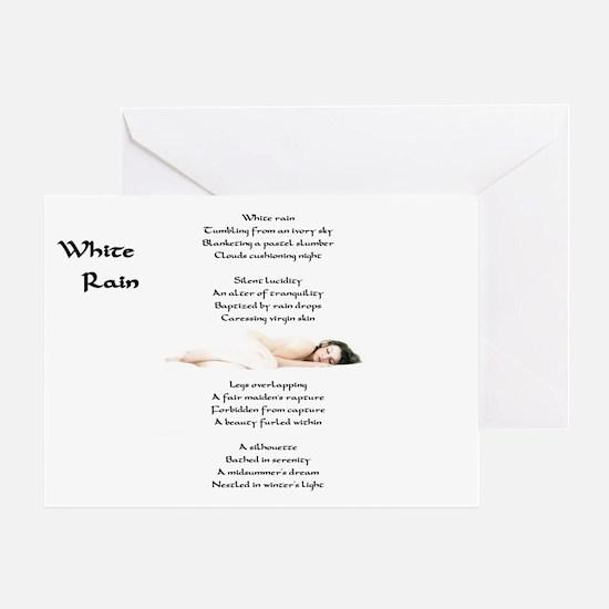 """White Rain"" Greeting Card"