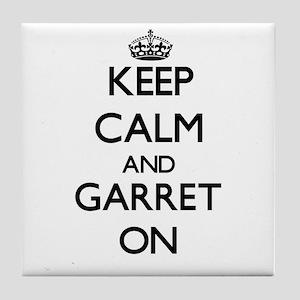 Keep Calm and Garret ON Tile Coaster