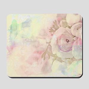 Pastel roses Mousepad
