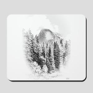 Wintry Mountain Portrait Mousepad