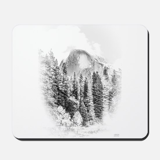 Wintry Mountain Portrait Mousepad