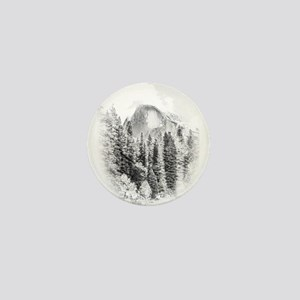 Wintry Mountain Portrait Mini Button