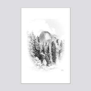 Wintry Mountain Portrait Mini Poster Print