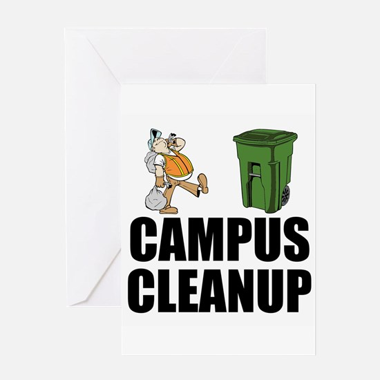Campus Cleanup Greeting Cards