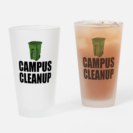 Campus Cleanup Drinking Glass