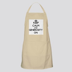 Keep Calm and Generosity ON Apron