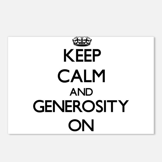 Keep Calm and Generosity Postcards (Package of 8)