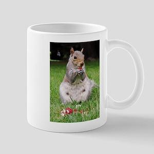Cute Squirrel Enjoying Nut Mugs
