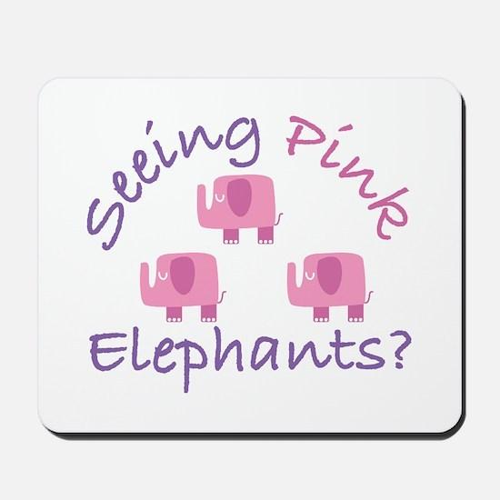 Seeing Pink Elephants? Mousepad