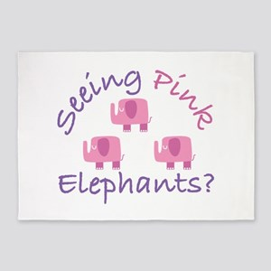Seeing Pink Elephants? 5'x7'Area Rug