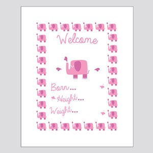 Pink Elephant Pregnancy Announcement Posters
