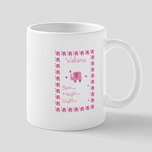 Pink Elephant Pregnancy Announcement Mugs