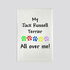 Jack Russell Walks Rectangle Magnet