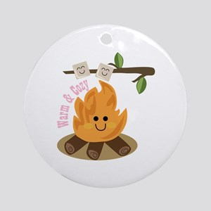 Warm & Cozy Ornament (Round)