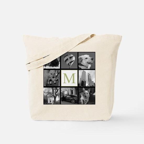 Big Photo Block and Monogram Tote Bag