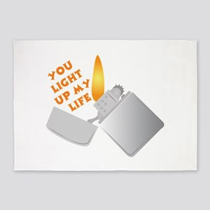 You Light Up My Life 5'x7'Area Rug