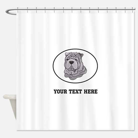Custom Shar Pei Shower Curtain