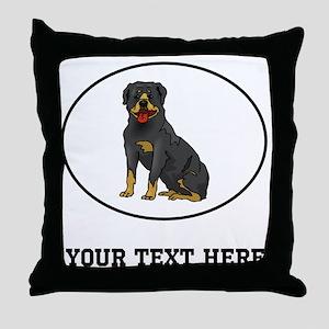 Custom Rottweiler Throw Pillow