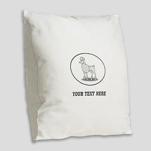 Custom Poodle Burlap Throw Pillow